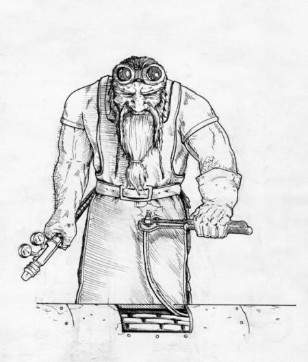 Trpaslík – technik