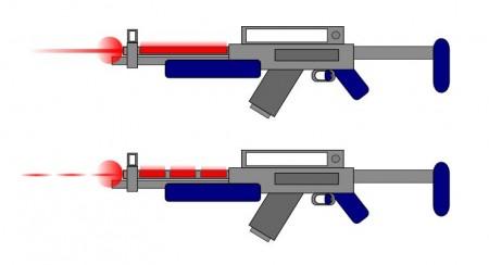 Paprsková a pulzní laserová puška