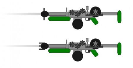 Manipulační a deformační magnetická puška