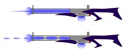 Paprsková a pulzní protonová puška