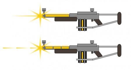 Paprsková a pulzní disrupční puška