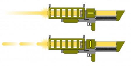 Paprsková a pulzní unifázová puška